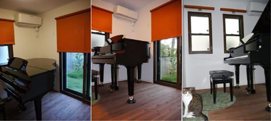 新築住宅のピアノ防音室